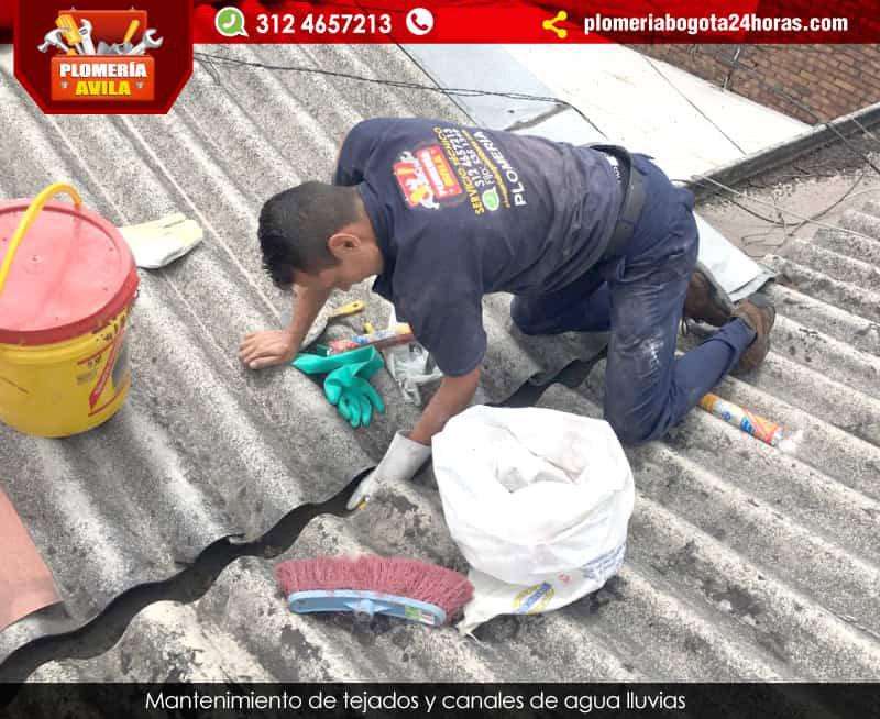 Reparaci n de canales y bajantes en alturas en bogot - Impermeabilizacion de tejados ...
