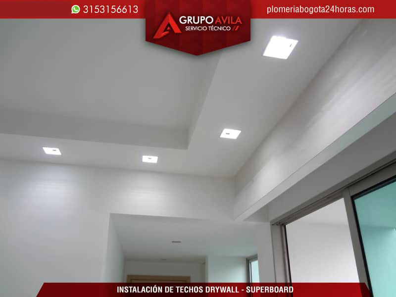 Instalaci n de techo drywall bogot techos y superboard for Techos de drywall modernos