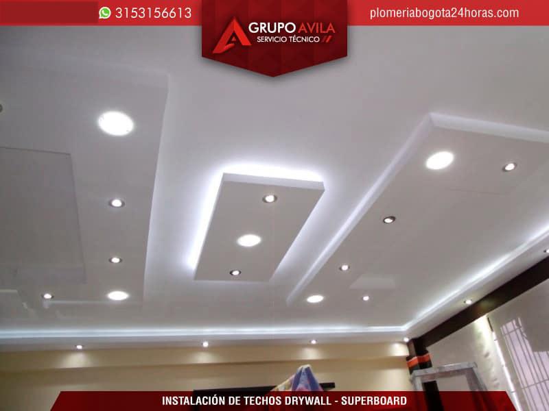 Instalaci n de techo drywall bogot techos y superboard for Techos de drywall para dormitorios